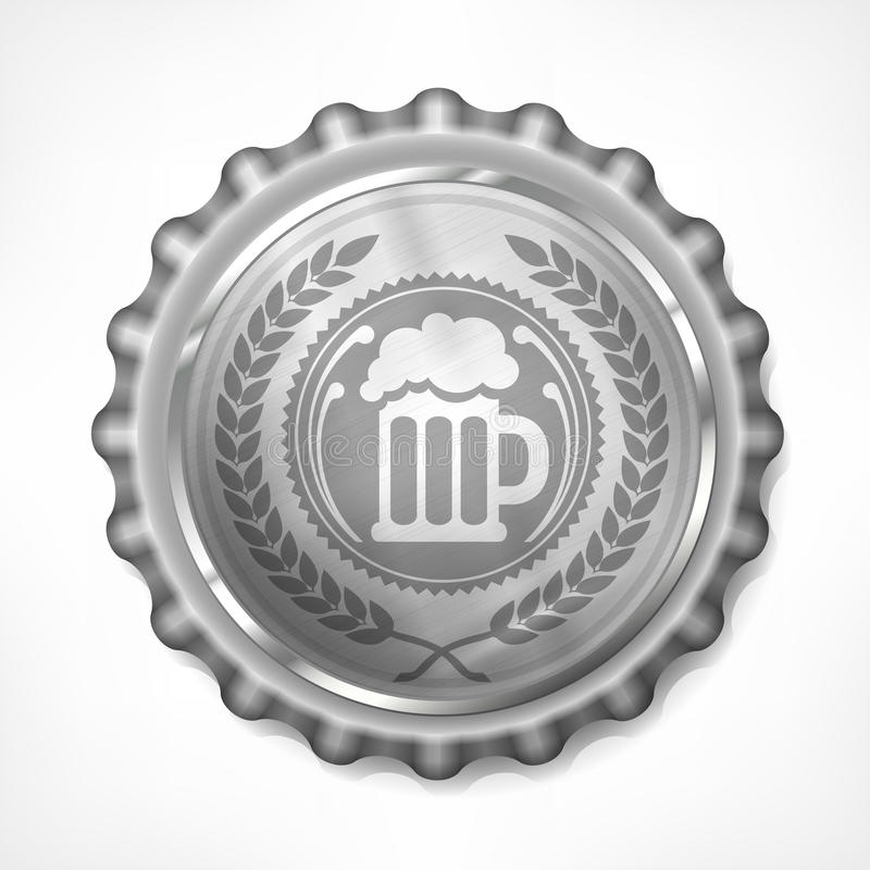 Free Bottle Cap With Beer Mug & Wreath Stock Photos - 58680823