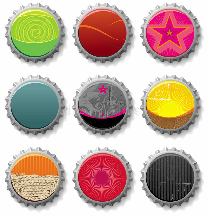 Free Bottle Caps 1- Vector Set Royalty Free Stock Photo - 5969255