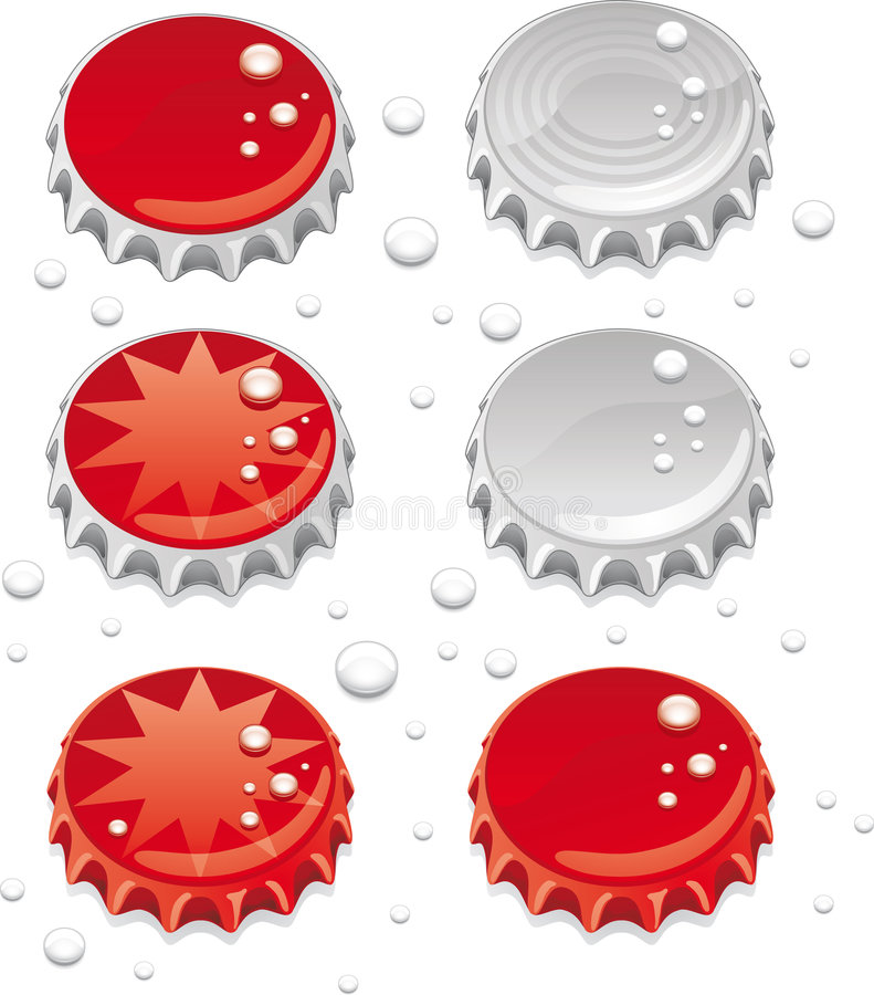 Bottle caps royalty free illustration