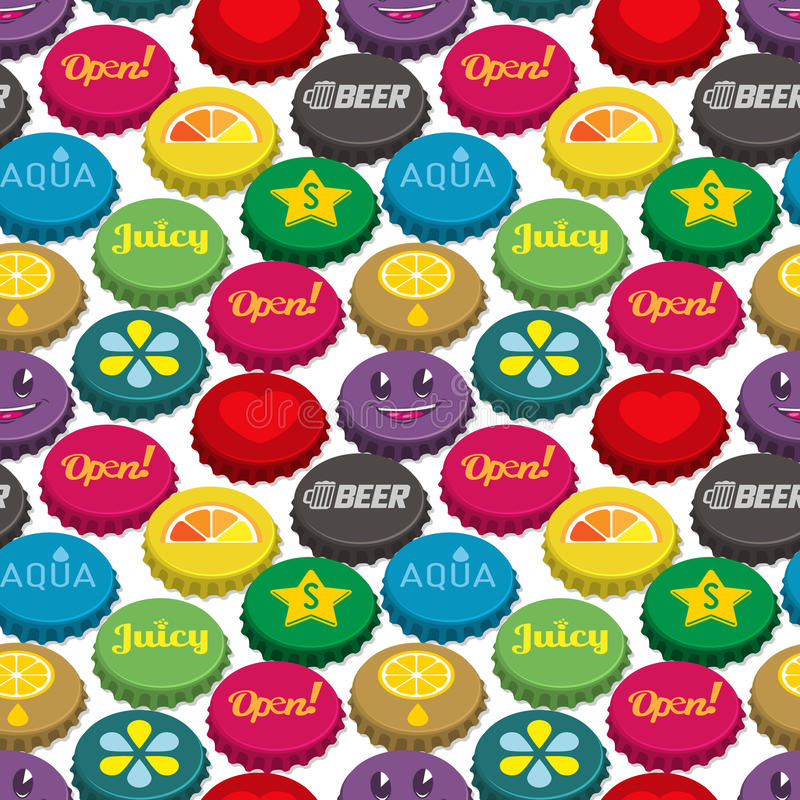 Download Bottle Caps Seamless Background Pattern Stock Vector - Image: 25502003