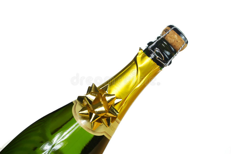Bottle of champagne royalty free stock photos