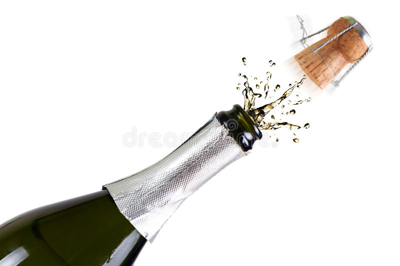 Download Bottle Of Champagne With Splashes Stock Image - Image: 22400481