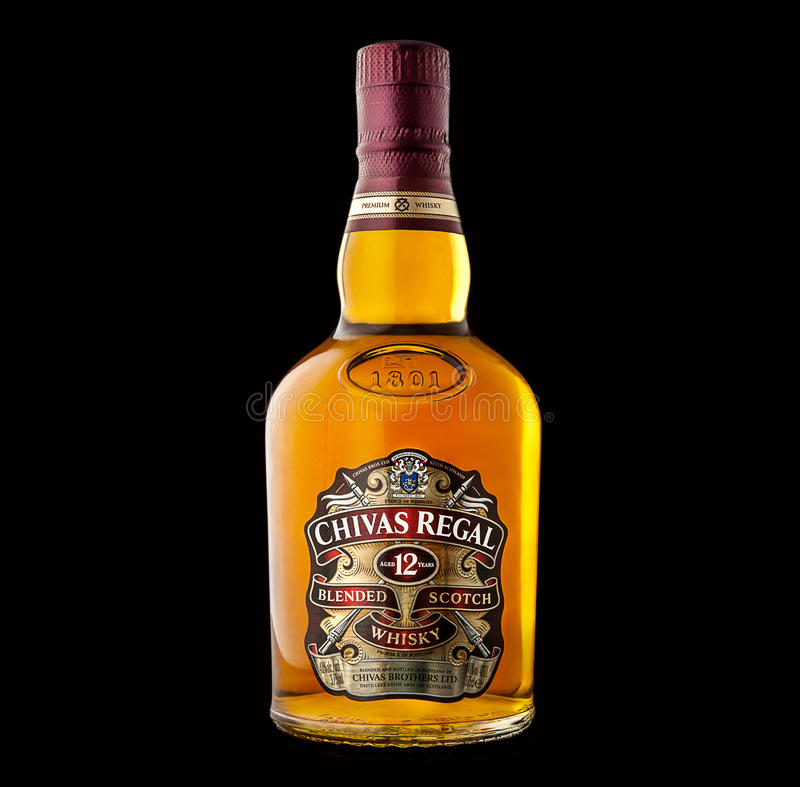 Bottle of chivas regal whiskey isolated on black background download bottle of chivas regal whiskey isolated on black background editorial photo image voltagebd
