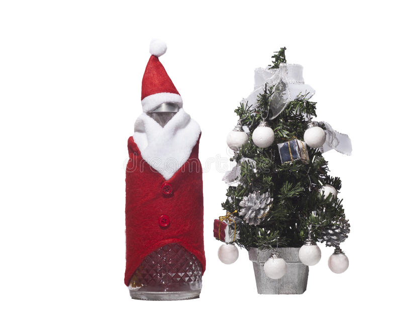 Download Bottle Of Christmas And Tree Stock Image - Image: 28101141