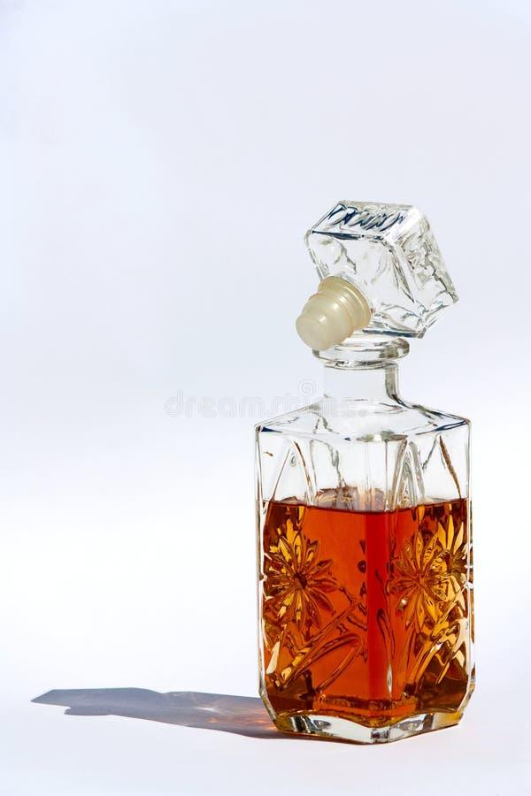 Bottle of cognac stock images