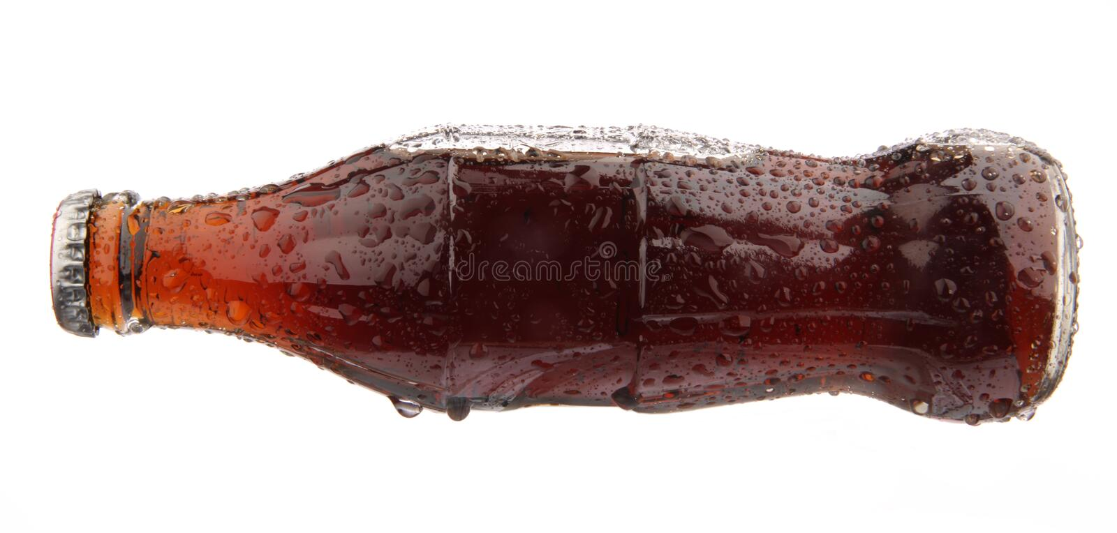 A bottle of cola soda isolated on a white backgrou royalty free stock image