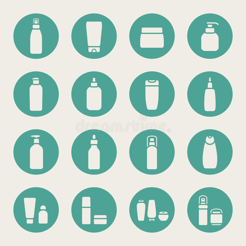 Bottle collection. Vector Illustration. Flat design stock illustration