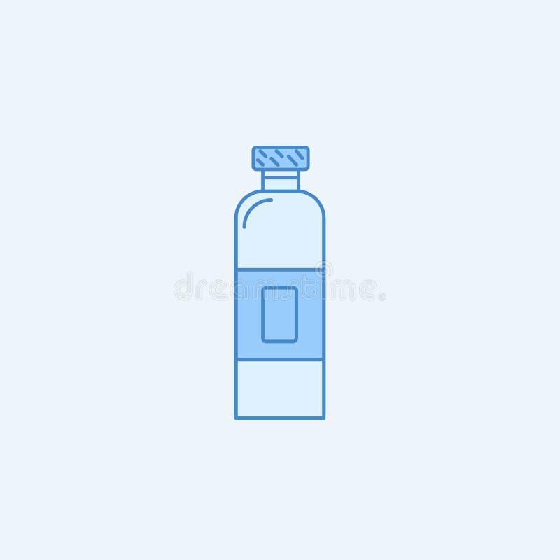 Bottle 2 colored line icon. Simple blue and white element illustration. Bottle concept outline symbol design from kitchen set. On light background royalty free illustration