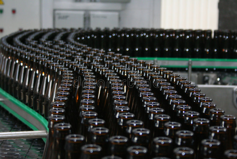 Bottle conveyor royalty free stock images