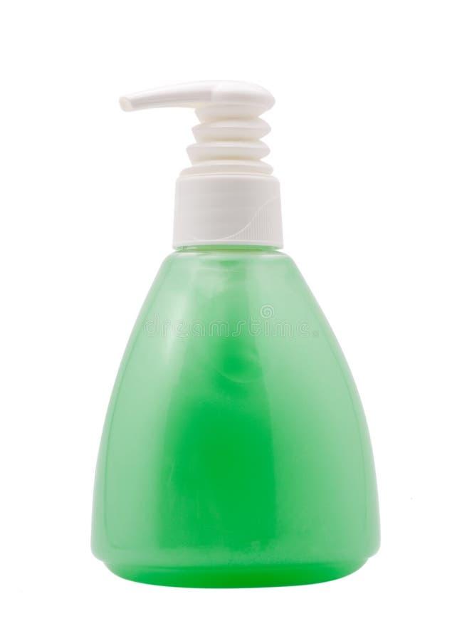 Bottle with cosmetics, isolated stock photo