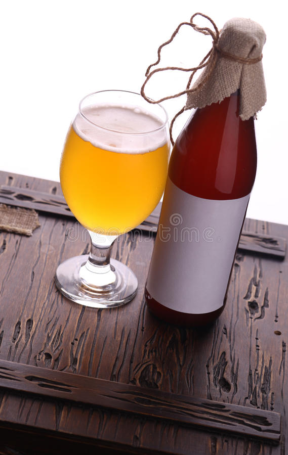 Bottle Of Craft Beer Stock Photo