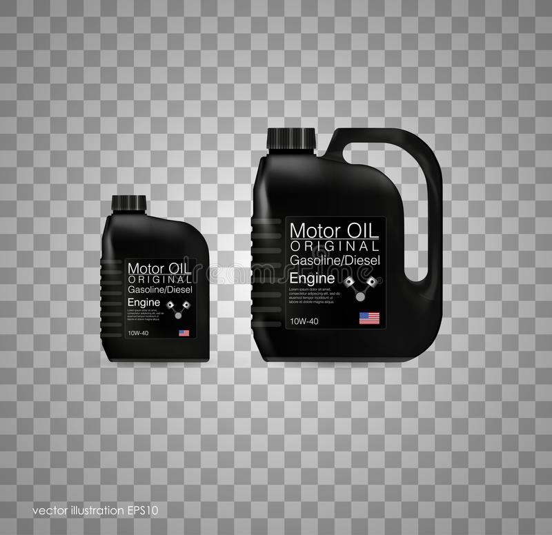 Bottle engine oil background, vector illustration. Transparent background. Eps 10 royalty free illustration