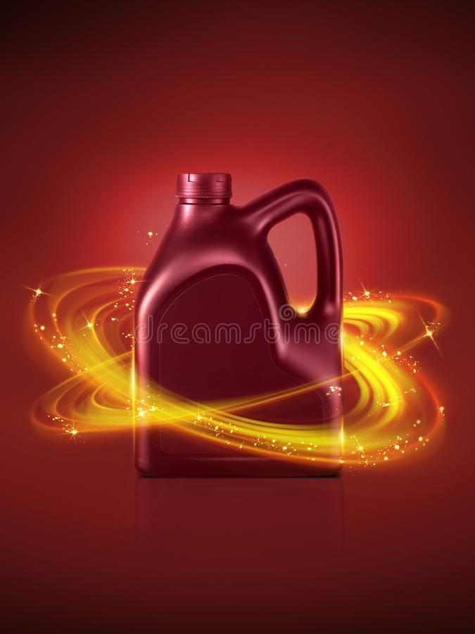 Bottle engine oil stock illustration