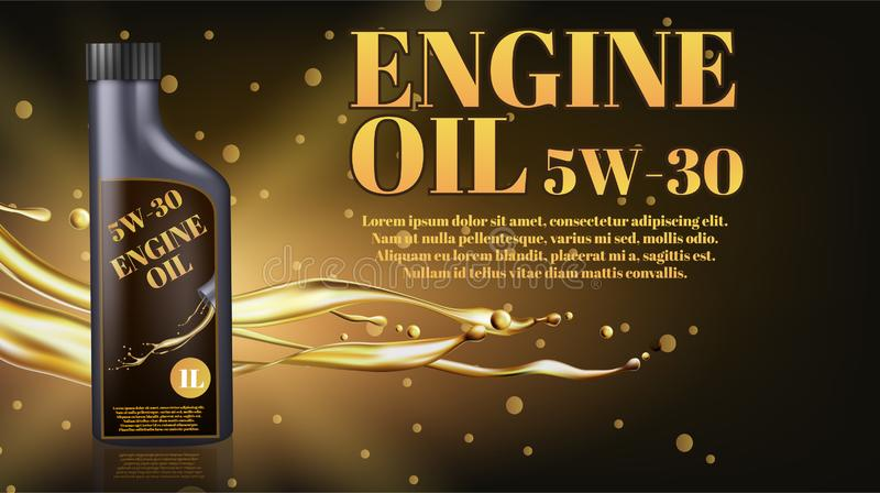 Bottle engine oil vector illustration