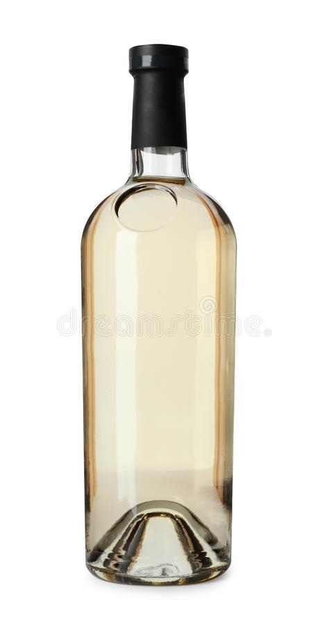 Bottle of expensive wine royalty free stock photos