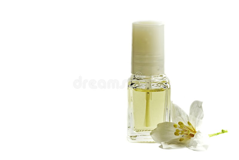 Bottle flower isolate with white color. Bottle isolate with white color with flowers stock photography