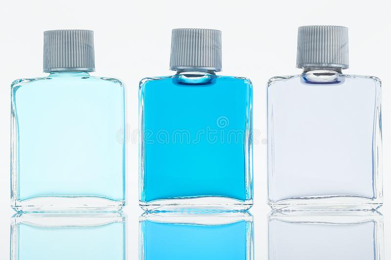 Bottle Fragance lotion glass royalty free stock photos