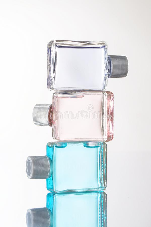 Bottle Fragance lotion glass stock photos