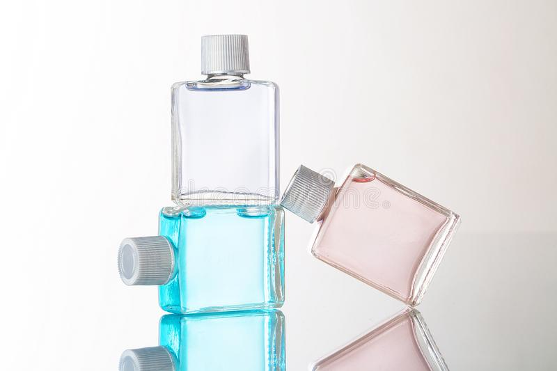 Bottle Fragance lotion glass royalty free stock photo