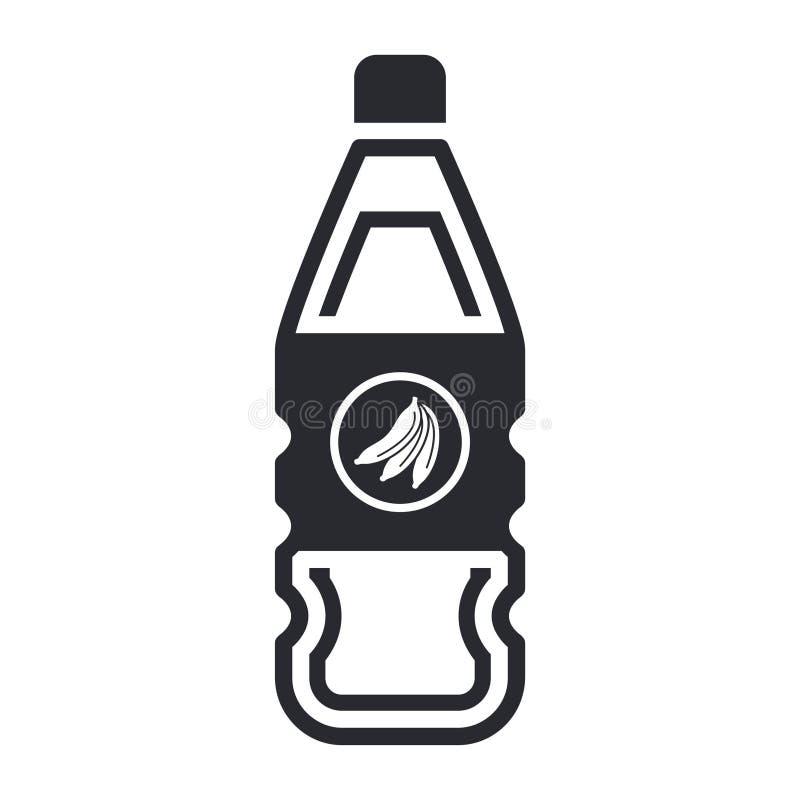 Bottle of fruit juice vector illustration
