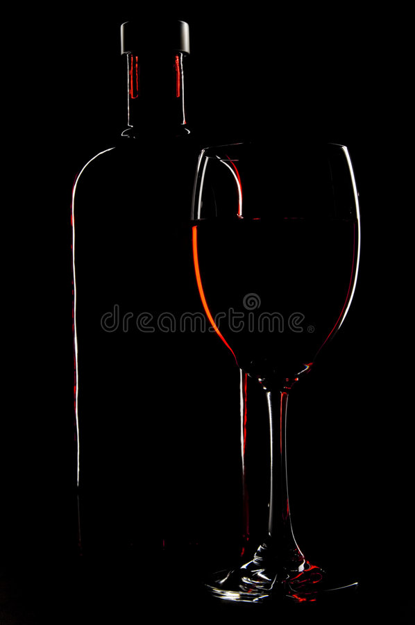 Bottle And Glass royalty free stock image