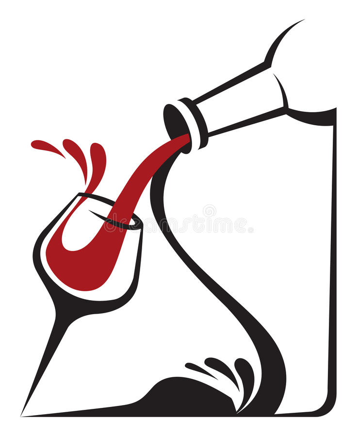 Download Bottle and glass stock vector. Illustration of graphic - 28080081