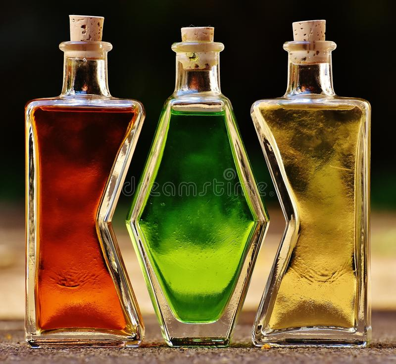 Bottle, Glass Bottle, Liqueur, Distilled Beverage stock image