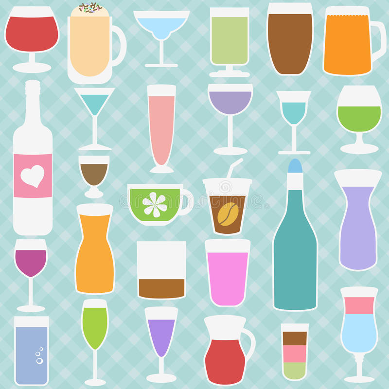 Download Bottle and Glass in Pastel stock vector. Image of cocktail - 27419916