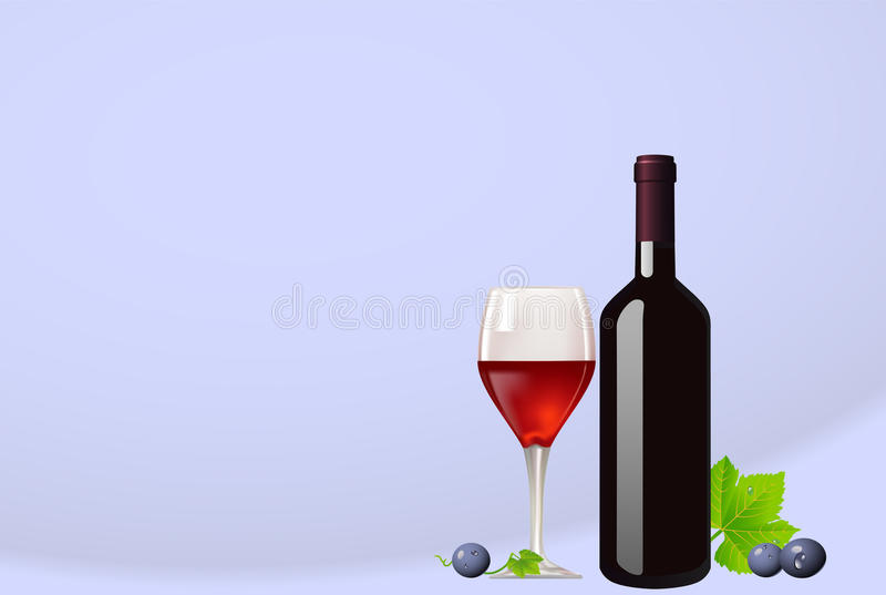 Download Bottle And Glass With Red Wine Stock Vector - Image: 14190020