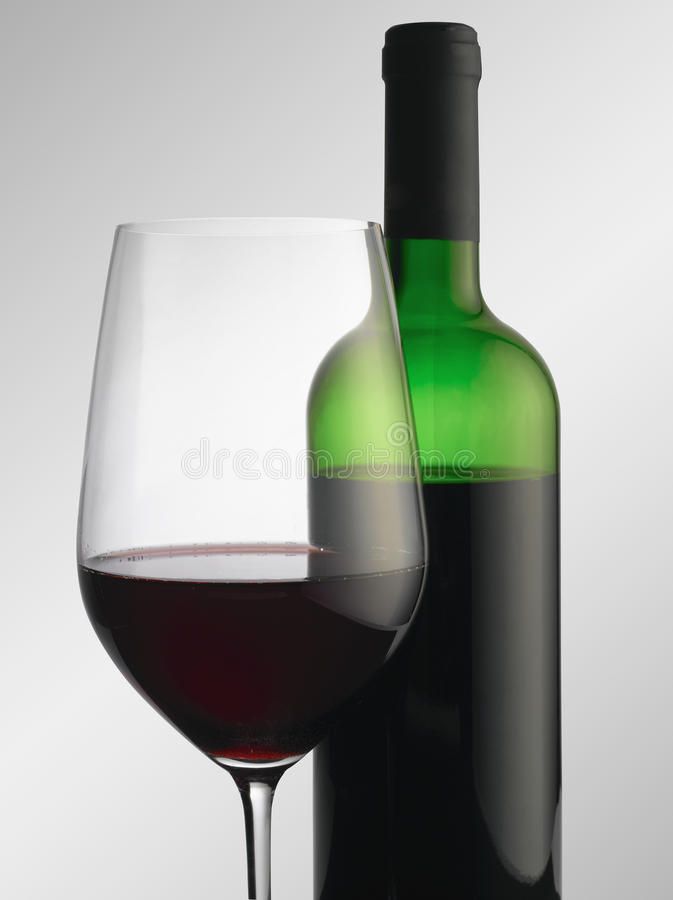 Download Bottle And A Glass Of Red Wine Stock Photo - Image: 23665608