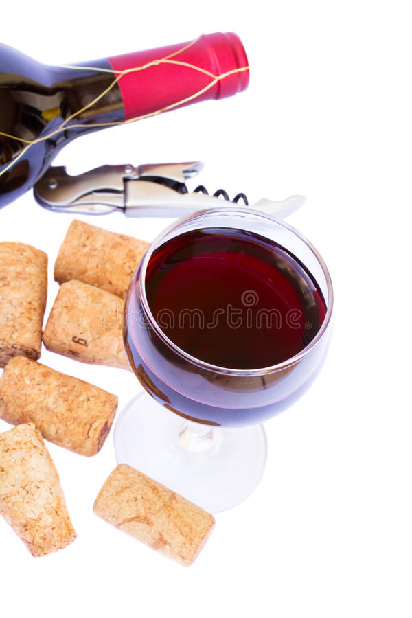 Download Bottle And Glass Of Red  Wine Stock Image - Image: 29022337