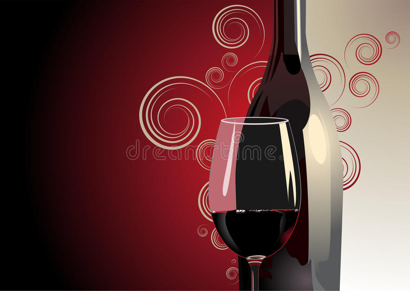 Download Bottle And Glass Of Red Wine Stock Vector - Illustration of drink, wine: 32702971
