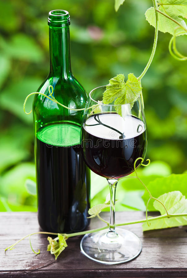 Download Bottle And Glass With Red Wine Stock Image - Image: 39246927