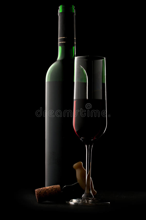 Download Bottle and glass of wine stock photo. Image of wine, blank - 23105546