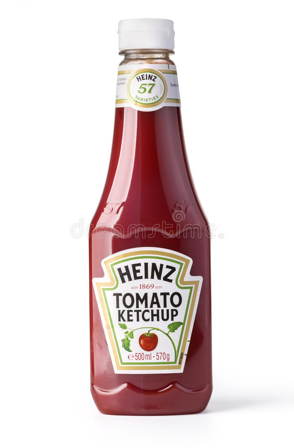 A bottle of Heinz Ketchu royalty free stock photo