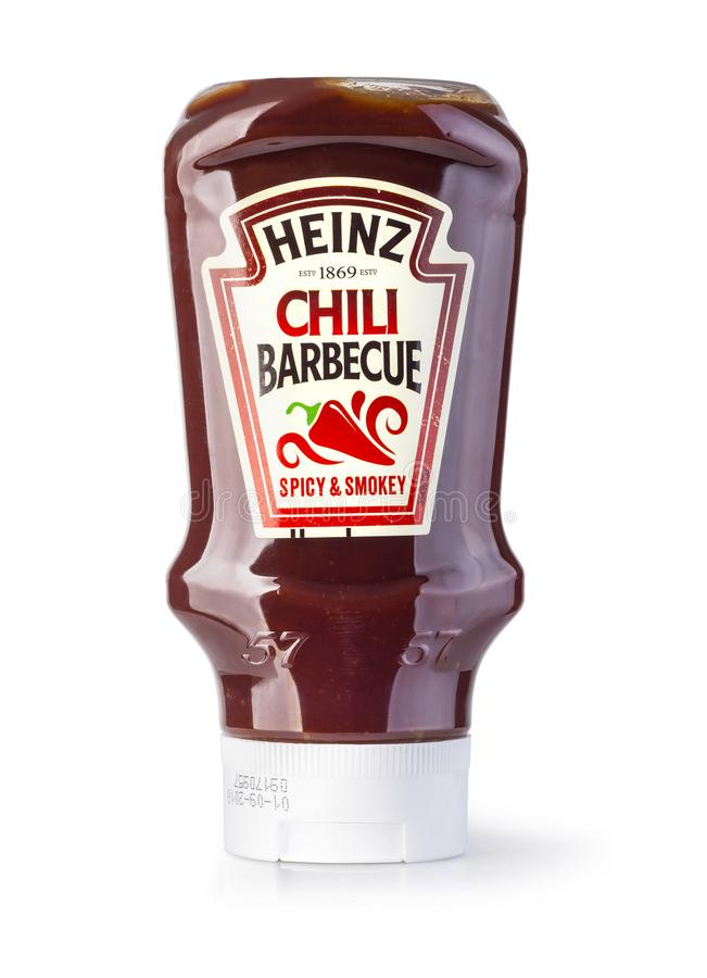 A bottle of Heinz Ketchup stock images