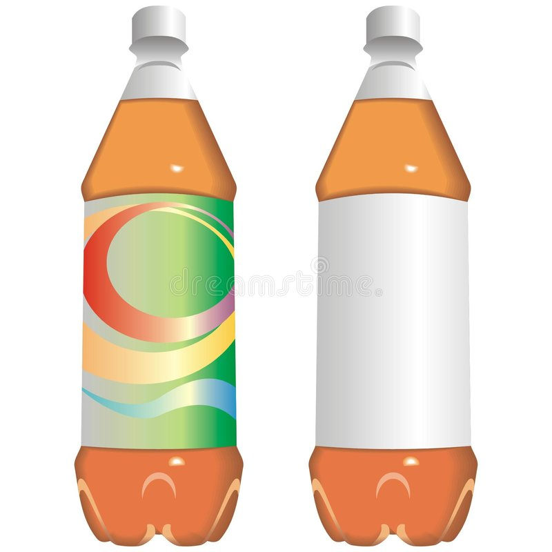 Bottle Of Juice Or Soft Drink Royalty Free Stock Photos