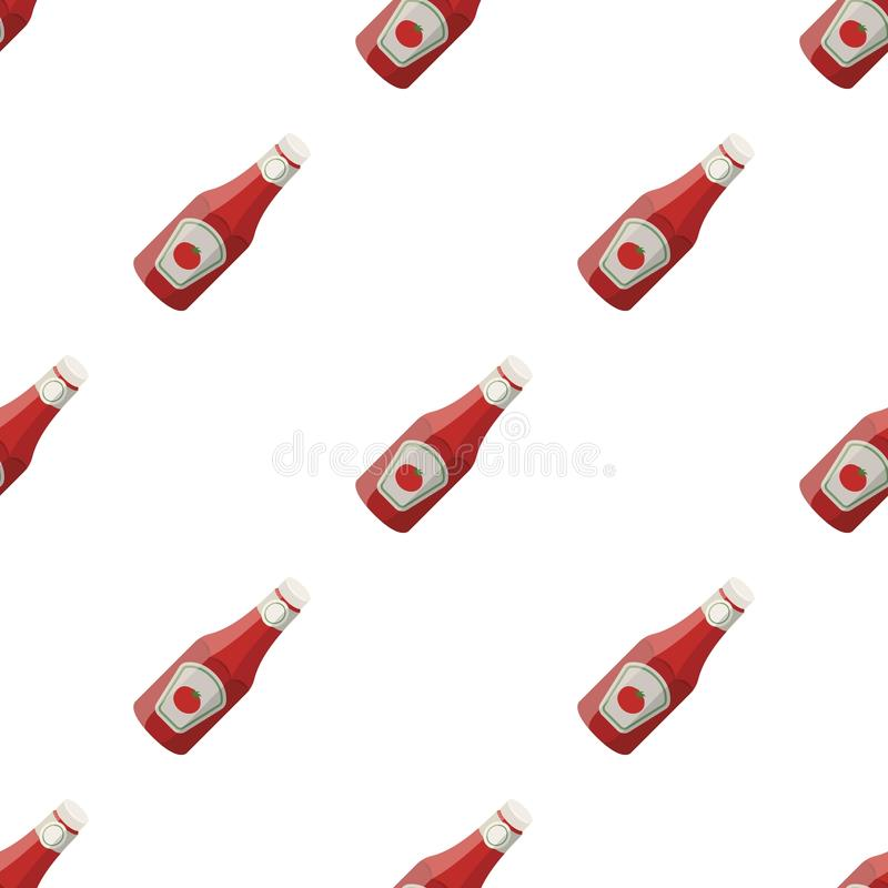 A bottle of ketchup.BBQ single icon in cartoon style vector symbol stock illustration web. A bottle of ketchup.BBQ single icon in cartoon style vector symbol vector illustration