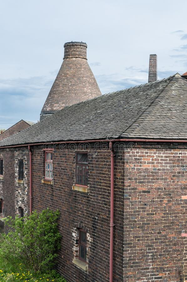 A Bottle Kiln in Stoke on Trent stock images