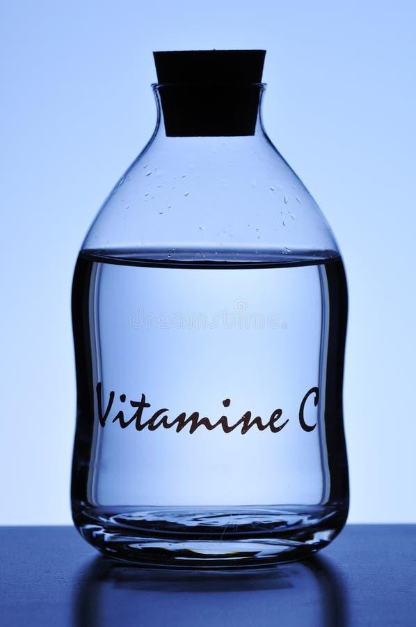 Bottle Of Liquid Vitamin C Stock Image