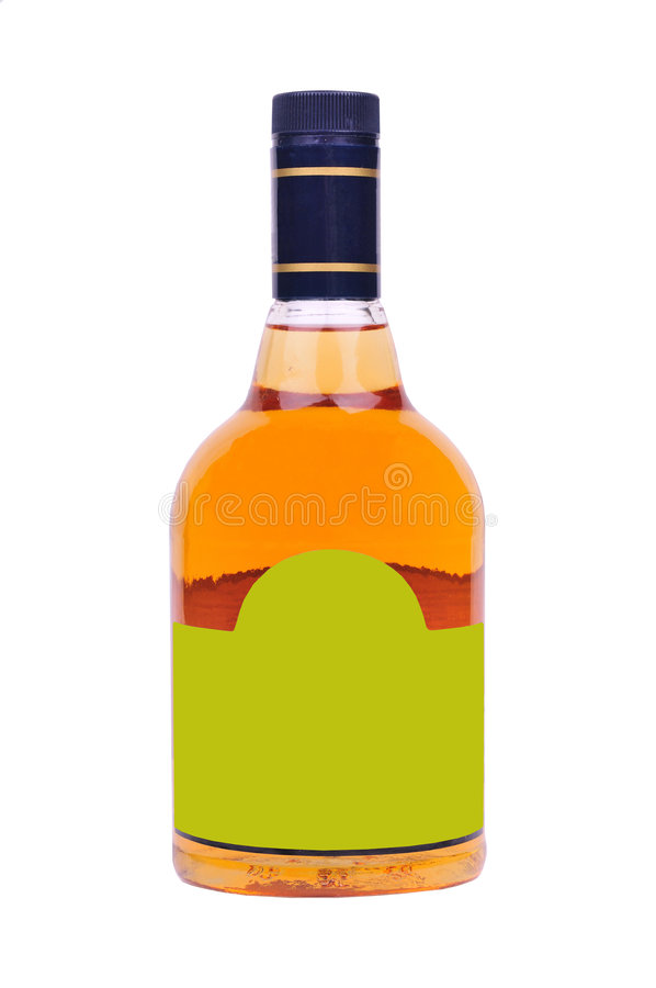 Bottle of liquor royalty free stock photo