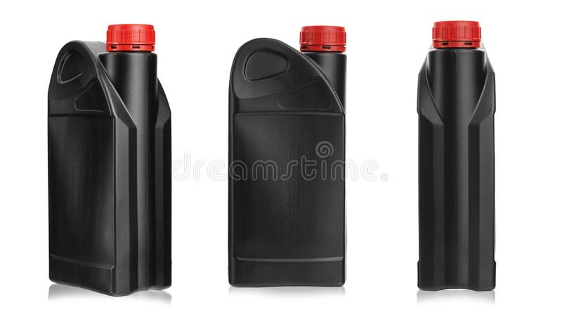 Bottle for machine oil stock image