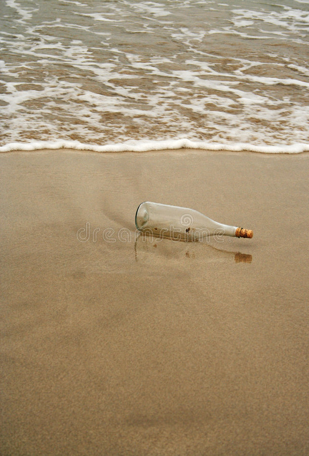 Bottle without message stock photo
