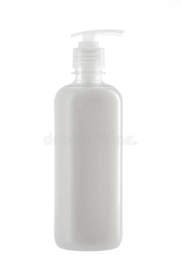 Bottle of natural liquid soap isolated on white background stock image