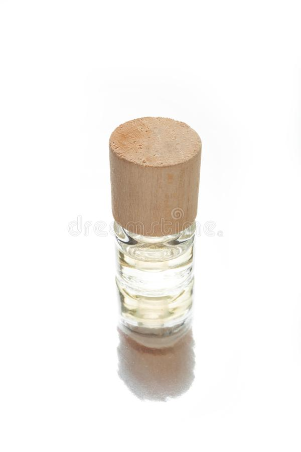 Bottle with natural oil, aromatic essential royalty free stock photo