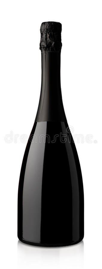 Free Bottle Of Sparkling Wine On A White Background Stock Photos - 37684553