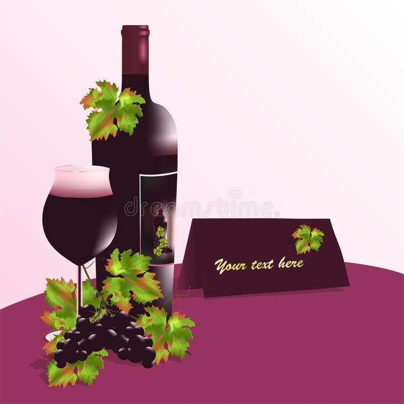 Free Bottle Of Wine And Glass, Cdr Vector Royalty Free Stock Images - 19225539