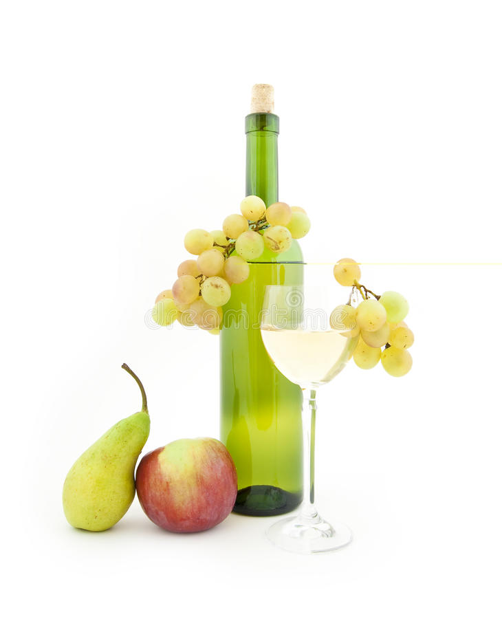 Free Bottle Of Wine And Various Fruit Royalty Free Stock Photography - 11378137