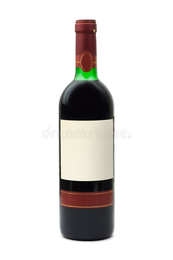 Free Bottle Of Wine With Empty Label Stock Images - 4394274