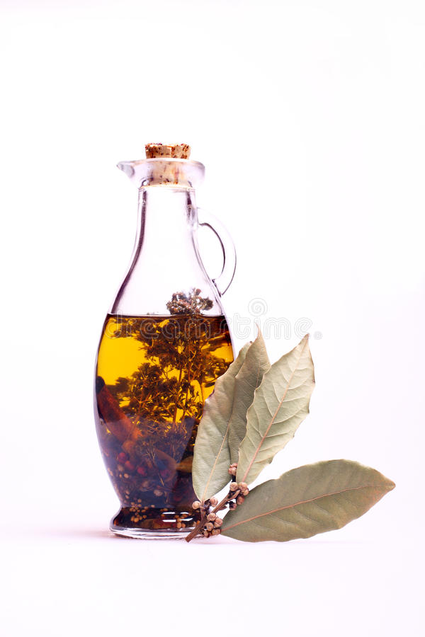 Bottle with oil royalty free stock photography